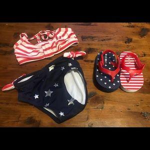 12-18 Mo Gymboree Swimsuit & Flip Flops